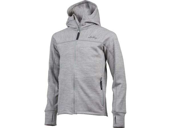 Ullto Merino Jr Hoodie Light Grey